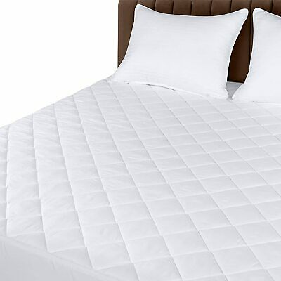 "Mattress Cover Quilted Fitted Pad Stretches Up To 16"" Deep Utopia Bedding"
