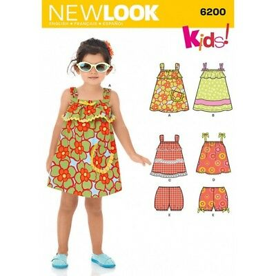 New Look Toddlers' Dress, Top & Bloomers Sewing Pattern 6200