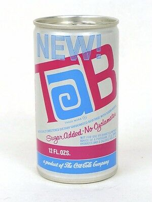 1970 New Tab No Cyclamates Coca Cola Daytona Beach Florida Aluminum can