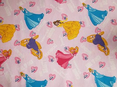 New Hand Made Princess Beauty Dream on Pink Flannel Fitted Crib/Toddler Sheet