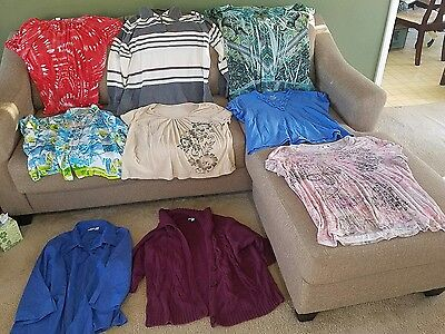 Womens size 2X large clothes mixed lot of 9 (clbx)