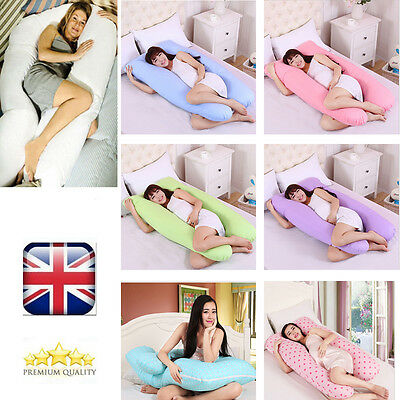 9ft U Pillow Case Only, Comfort Back Body Support Nursing Maternity Pregnancy UK