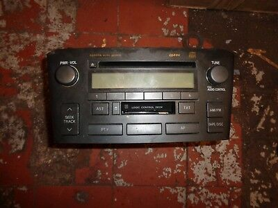 Toyota Avensis Estate 2005 Cd & Tape Player-No Code