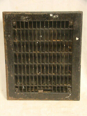 Vintage 1920S Iron Heating Grate Rectangular Design 11.5 X 9.5 Register