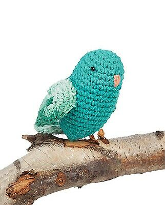 Hoooked Lovebirds (lagoon) amigurumi crochet kit & pattern