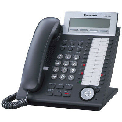 Panasonic KX-NT343 Black 3 Line VoIP Backlit Display Phone PoE ONLY REFRB WRNTY