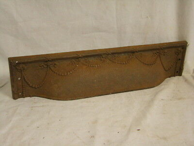 Antique Late 1800's Cast Iron Fireplace Top Piece Surround Insert Ornate Design