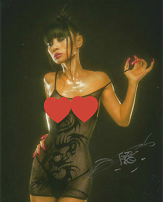 *SALE* Bai Ling Signed 10x8 Photo AFTAL With Proof