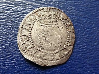 James I Silver Half Groat / Twopence Great Britain Uk