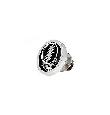 Grateful Dead Steal Your Face Sterling Silver Pin