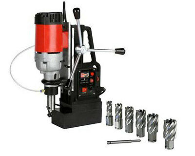 """Steel Dragon Tools® MD50 Magnetic Drill Press with 7pc 1"""" HSS Annular Cutter Kit"""