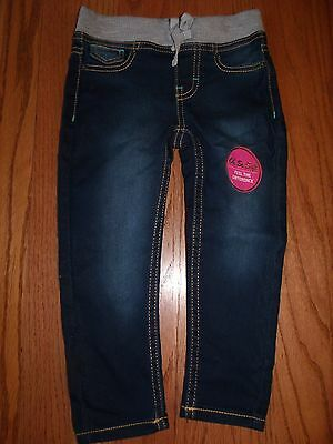New Girls Lee Blue Denim Skinny Leg Jeans Leggings Pants Toddler 2T