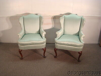 43472:Hickory Chair Pair of Wing Back Chairs