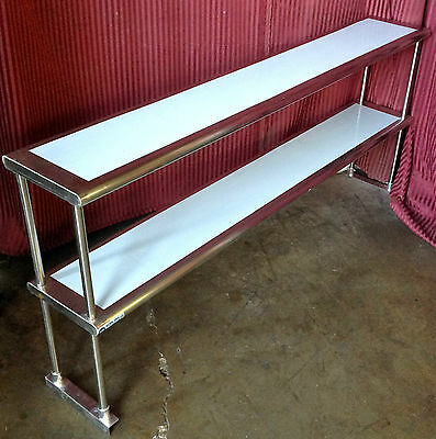 "72"" x 12"" Double Over Shelf ALL Stainless NSF Storage NEW Restaurant Grade #1292"