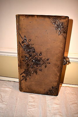 Victorian Leather Photograph Album, Lovely Internal Condition