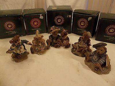 Lot Of 5 Boyds Bears & Friends Figurines The Bearstone Collection Nib Retired