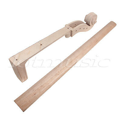 4/4 Cello Neck And Fingerboard 4 Peg Holes Scrolled Head for Cello Parts Maple