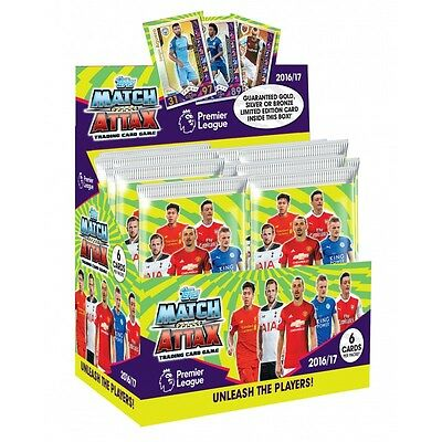 Topps Match Attax Season 16/17 New Trading Cards Box of 50 Packs