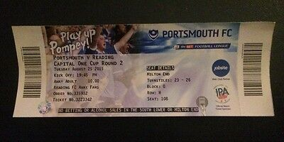 Portsmouth v Reading Ticket - Soccer / Football League Cup 2015 2016