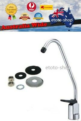 Water Filter + Reverse Osmosis Faucet Tap With Black Lever