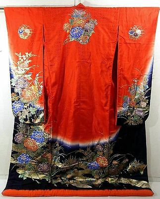 INCREDIBLE Uchikake Wedding Kimono with Shimmery Garden of Flowers!