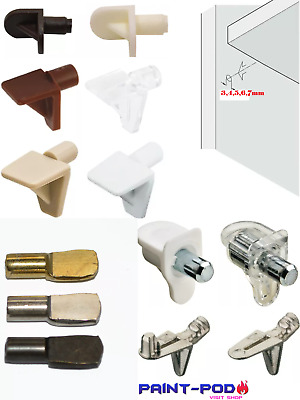 Metal Shelf Supports Pins Pegs Plug In 3,4,5,7Mm Hole Kitchen Cupboard Cabinet