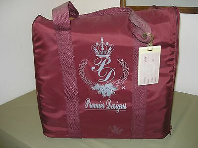 Premier Designs Jewelry Consultant Travel Tote Bag With 4 1/2 Trays Maroon