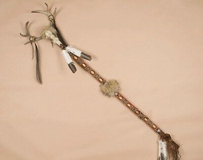 Native American INDIAN HAND~Made Medicine Man Staff Ceremonial STAFF 67-1/2""