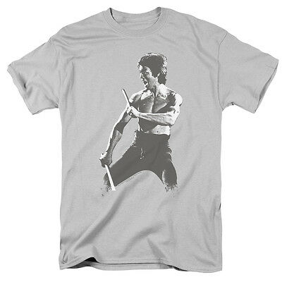 Bruce Lee Yellow Suit Pose Licensed Adult T Shirt