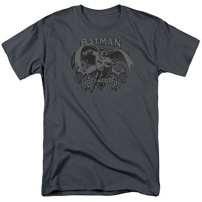 Batman CAPED CRUSADER Flying Bat Licensed Adult T-Shirt All Sizes
