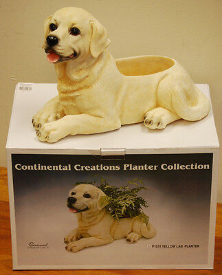 Yellow Labrador Poly-stone Patio Planter by Continental Creations