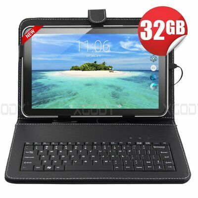NEW 10.1'' Tablet PC Android5.1 QuadCore 32GB 10 Inch HD WIFI W/ Keyboard Bundle