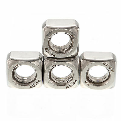 Stainless Steel M3 M4 M5 M6 M8 M10 A2 Square Nuts For Metric Screws Bolt DIN557