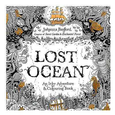 Lost Ocean Graffiti Adult Coloring Book NEW Gifts Elegant Painting Drawing Books
