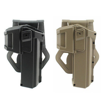 Tactical Movable Right Hand Pistol Gun Holsters with Flashlight for Glock Series