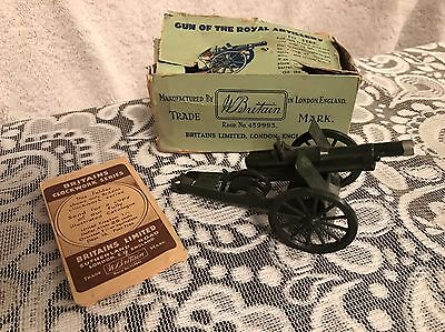 Vtg Cast Britains Ltd. Royal Artillery Gun No 1292 w/ Orig Box & Manual  England