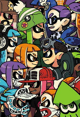 "YX02255 Splatoon - Hot Video Game 14""x20"" Poster"
