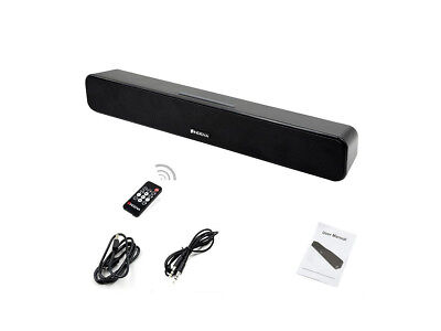 Bluetooth Soundbar Lautsprecher Ultrabass MP3 SD AUX USB RADIO Akku INDENA NEU