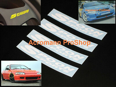 "4x 4"" 10.2cm Spoon Sports alloy wheel rim spoke decal sticker civic eg6 eg9 ej1"