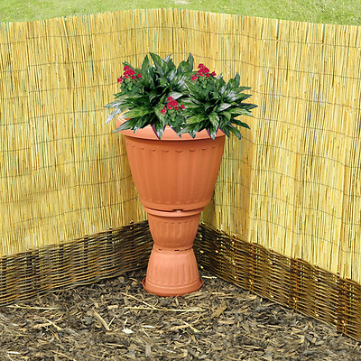 Natural Peeled Reed Screening Roll Garden Screen Fence Panel Wood Fencing 1 x 3m
