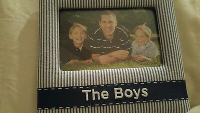 Mud Pie  Blue Boys Picture Frame NEW