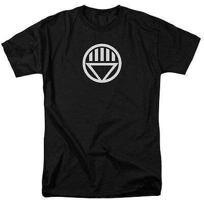 Green Lantern BLACK LANTERN LOGO Licensed Adult T-Shirt All Sizes