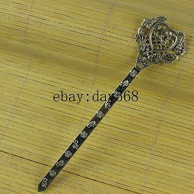 Chinese manual Retro collection old Tibetan silver Phoenix Hairpin A8
