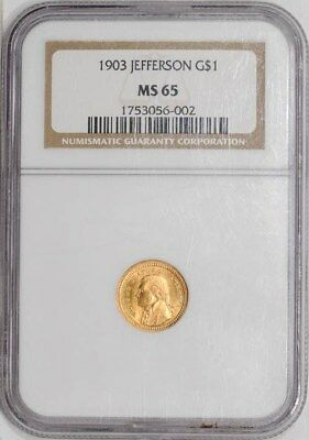1903 $ Jefferson Gold Dollar MS65 NGC