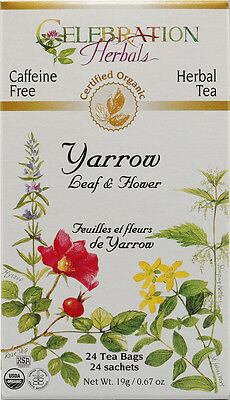 Yarrow Leaf and Flower Tea, Celebration Herbals, 24 tea bag