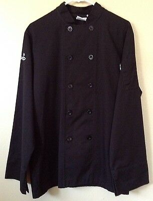 Black Long Sleeve Chef Jacket Coat Top Medium Chef Works Sodexo Embroidered