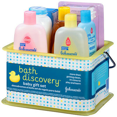 Gift Set Of 8 Bath Essentials Items For Infant Baby Newborn oil shampoo lotion