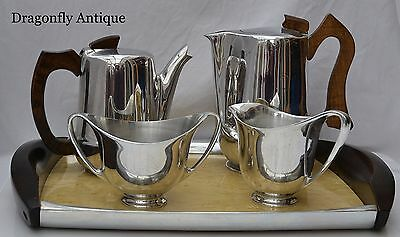 SUPERB 1950 Vintage Retro Picquot Ware Tea Coffee Set Tray Instructions POLISHED