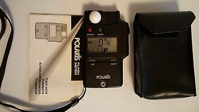 POLARIS FLASH METER - Light Meter with case strap and instruction manual