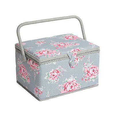 NEW | Hobby Gift MRL/190 | Beautiful Bloom Print Large Sewing Box | 23½x31x20cm